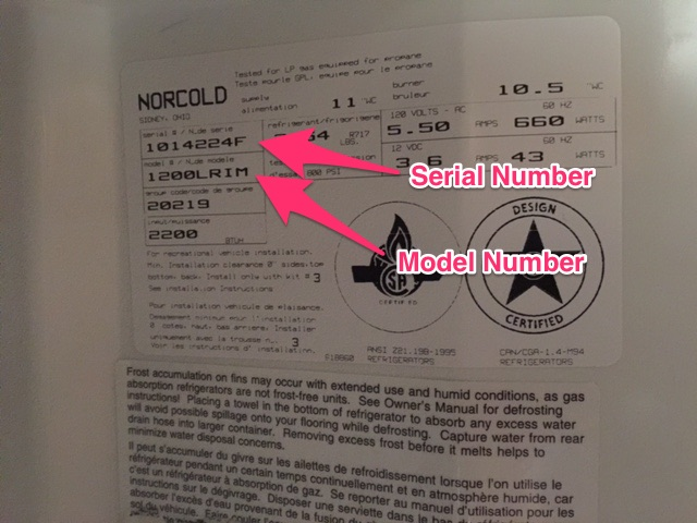 You can see if your model is one of the recalled units by looking at the sticker inside the door.